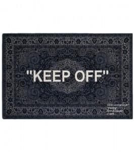 """Ковер Virgil Abloh x IKEA """"KEEP OFF"""" Rug 200x300 CM Grey/White"""