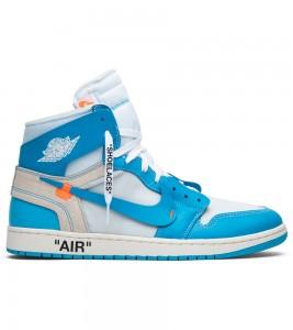 Кроссовки Jordan 1 Retro High Off-White University Blue