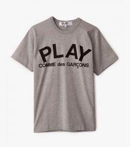 Футболка Comme des Garсons Play PLAY PLAY LOGO