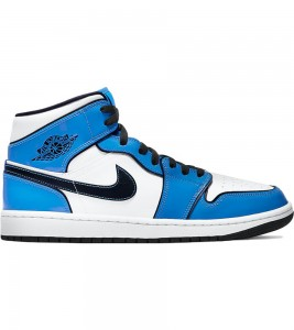 Кроссовки Air Jordan 1 Mid Signal Blue