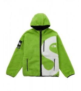 Куртка Supreme х The North Face S Logo Fleece Jacket Lime