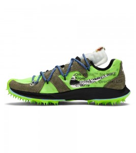 Кроссовки Off-White x Nike Wmns Air Zoom Terra Kiger 5 Athlete in Progress - Electric Green - Фото №2