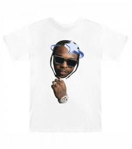 Футболка Pop Smoke x Vlone Halo T-Shirt White