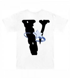 Футболка Pop Smoke x Vlone Halo T-Shirt White - Фото №2
