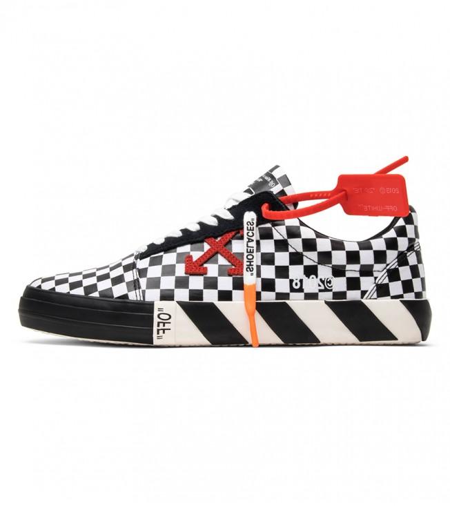 Кроссовки Off-White Vulc Low Top 'Checkered Black White'