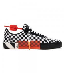 Кроссовки Off-White Vulc Low Top 'Checkered Black White' - Фото №2