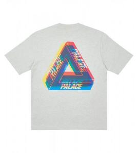 Футболка Palace Tri-Ferg Colour Blur T-Shirt Grey Marl