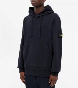 Худи Stone Island Garment-Dyed Hoodie Navy - Фото №2