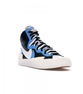 Кроссовки Nike Blazer Mid sacai White Black Legend Blue - Фото №2