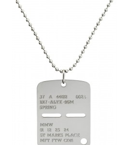 Цепочка 1017 ALYX 9SM Silver Military Tag Necklace 71 см - Фото №2