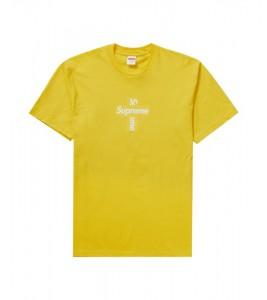 Футболка Supreme Cross Box Logo Yellow
