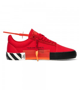 Кроссовки Off-White Vulc Low Top 'Red' - Фото №2