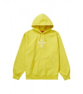 Худи Supreme Cross Box Logo  Lemon