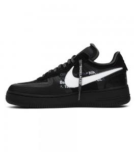 Кроссовки Off-White x Nike Air Force 1 Low Black - Фото №2