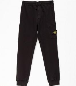 Штаны Stone Island Fleece Cotton Pants Black