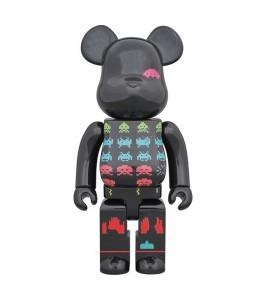 Bearbrick Space Invaders 400% Black