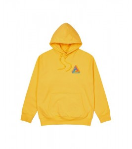 Худи Palace Tri-Dart Hood Yellow - Фото №2