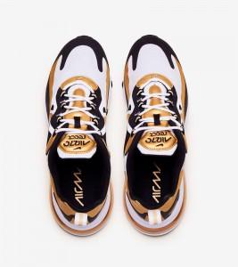Кроссовки Nike Air Max 270 React White Gold - Фото №2