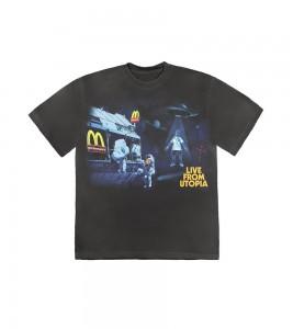 Футболка Travis Scott x McDonald's Live From Utopia Black