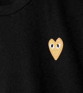 Футболка Comme des Gar?ons Play Gold Heart - Фото №2