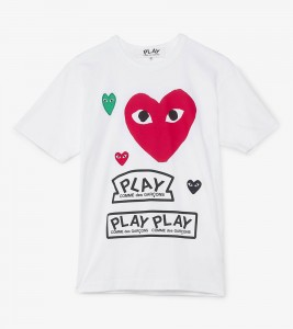Футболка Comme des Gar?ons Play Play Logo Red Heart