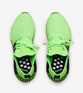 Кроссовки adidas NMD R1 Green Black - Фото №2