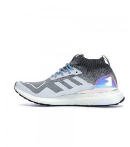 Кроссовки adidas Ultra Boost Mid Granite Silver Metallic - Фото №2