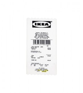 "Virgil Abloh x IKEA MARKERAD ""RECEIPT"" Rug 201x89 CM White/Black"