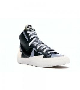 Кроссовки Nike Blazer Mid sacai Black Grey - Фото №2