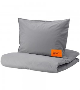 Постельный Набор Virgil Abloh x IKEA MARKERAD EU Duvet Cover and 1 Pillowcase 150x200cm