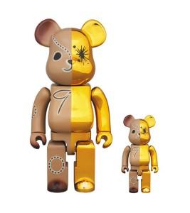 Bearbrick Miharayasuhiro 100% & 400% Set Gold/Brown