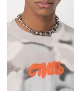Цепочка Heron Preston Silver & Orange Multichain Necklace 44 см - Фото №2