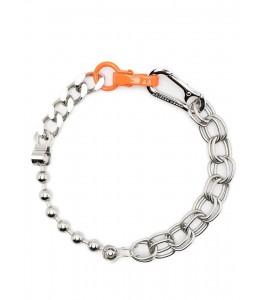 Цепочка Heron Preston Silver & Orange Multichain Necklace 44 см