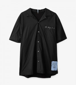 Рубашка MCQ PRINTED PATCHED OVERSIZED SHIRT