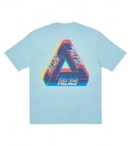 Футболка Palace Tri-Ferg Colour Blur T-Shirt Pale Blue