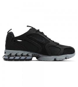 Кроссовки Stussy x Nike Air Zoom Spiridon Cage 2 Black - Фото №2