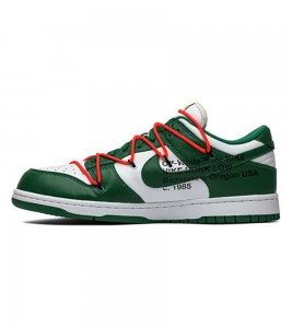 Кроссовки Off-White x Nike Dunk Low Pine Green - Фото №2