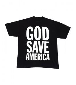 Футболка Kanye West God Save America Tee Black