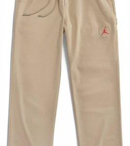 Штаны Travis Scott Cactus Jack x Jordan Canvas Pant Desert/Khaki/University Red