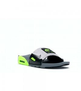 Кроссовки Nike Air Max 90 Slide Smoke Grey Volt Black - Фото №2