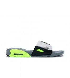 Кроссовки Nike Air Max 90 Slide Smoke Grey Volt Black