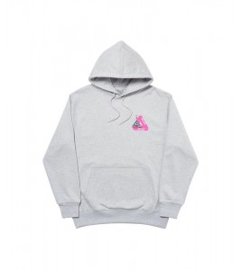 Худи Palace Tri-Smiler Hood Grey Marl