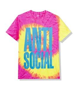 Футболка Anti Social Social Club Heatwave Pink Tie Dye