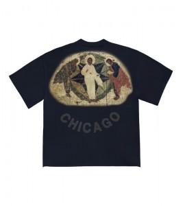 Футболка Kanye West Jesus Is King Painting Navy - Фото №2
