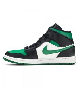 Кроссовки Air Jordan 1 Mid Green Toe - Фото №2