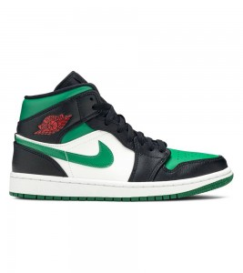 Кроссовки Air Jordan 1 Mid Green Toe