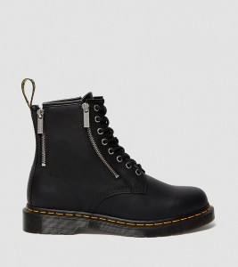 Ботинки Dr. Martens 1460 ZIP NAPPA LEATHER LACE UP BOOTS
