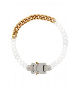 Чокер 1017 ALYX 9SM Transparent & Gold Buckle Necklace 41 см