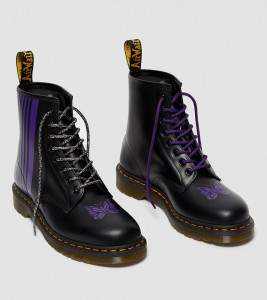 Ботинки Dr. Martens 1460 NEEDLES LEATHER LACE UP BOOTS - Фото №2
