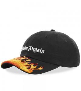 Palm Angels Black Flames Cap